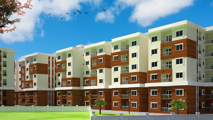 Affordable flats and villas in gated communities by top